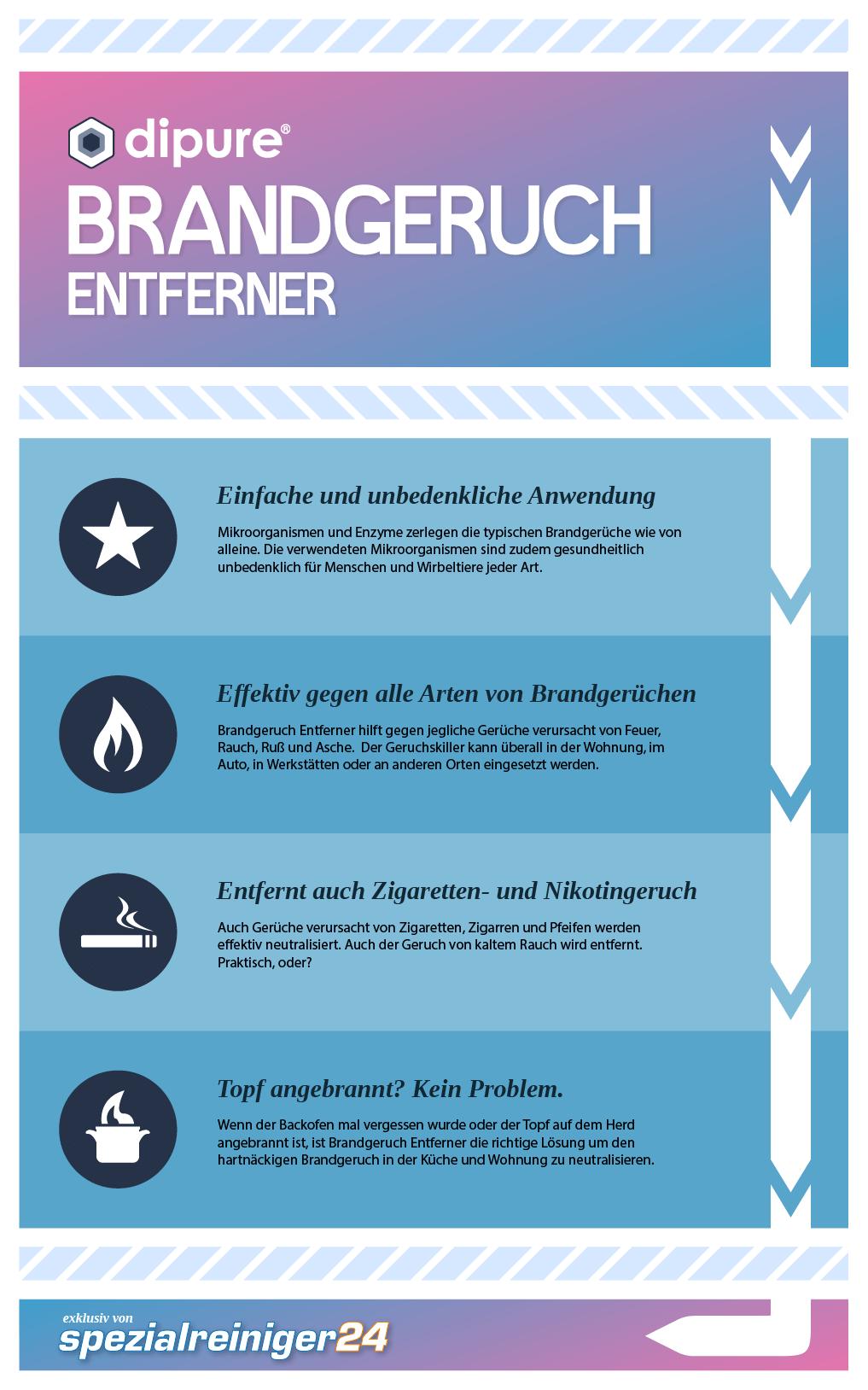 Brandgeruch Entferner Infografik