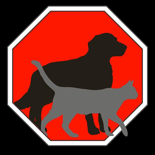 Fernhalte-Spray Logo mit Hund und Katze