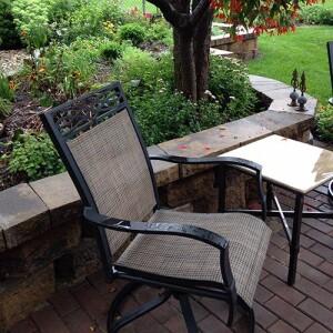 Terrasse, Garten und Hof