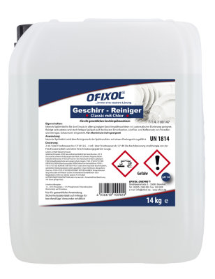 Geschirr-Reiniger Typ 14 (mit Chlor)